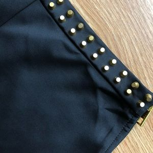Forever 21 Black Studded Party Shorts